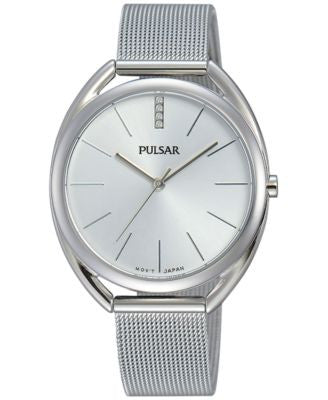 Pulsar Women's Easy Style Stainless Steel Mesh Bracelet Watch 34mm PG2041