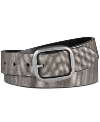 INC International Concepts Metallic Textured Reversible Belt, Only at Vogily