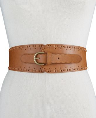 INC International Concepts Whipstitch Tapered Stretch Belt, Only at Vogily