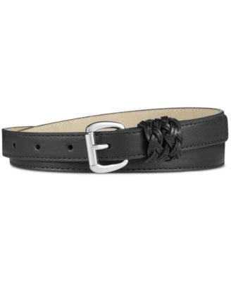 INC International Concepts Braided Keeper Skinny Pant Belt, Only at Vogily