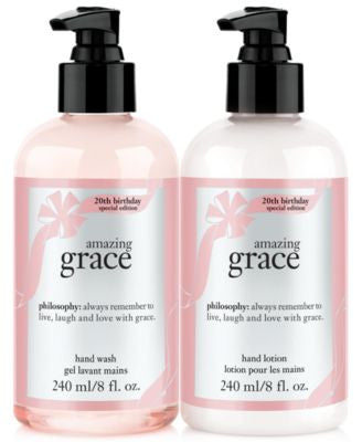 philosophy amazing grace 20th anniversary hand wash & lotion duo