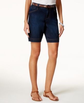 Lee Platinum Classic-Fit Belted Bella Wash Shorts