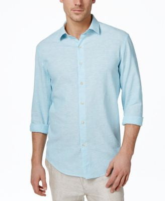 Tasso Elba Men's Linen Long-Sleeve Shirt