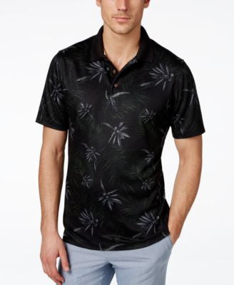 Tasso Elba Men's Big & Tall Paradise Floral-Print Polo, Only at Vogily