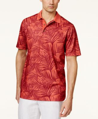 Tasso Elba Men's Leaf-Print Polo Shirt, Only at Vogily