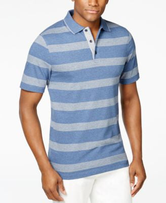 Tasso Elba Men's Striped Tipped Polo, Only at Vogily