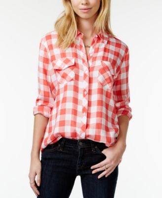 Maison Jules Gingham Shirt, Only at Vogily