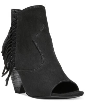 Carlos by Carlos Santana Peyton Fringed Peep-Toe Shooties