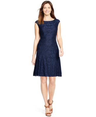 American Living Floral-Lace Dress