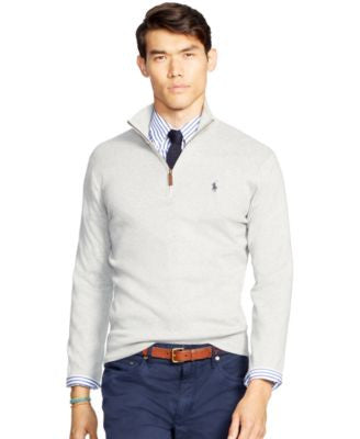 Polo Ralph Lauren Men's Half-Zip Pima Sweater