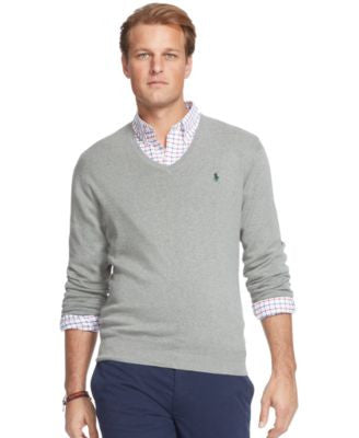 Polo Ralph Lauren Big & Tall Pima V-Neck Sweater