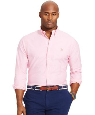 Polo Ralph Lauren Men's Big and Tall Stretch-Oxford Shirt
