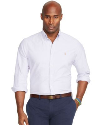 Polo Ralph Lauren Men's Big and Tall Gingham Oxford Shirt