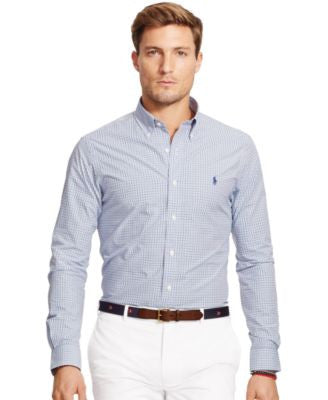 Polo Ralph Lauren Men's Men's Long Sleeve Slim-Fit Gingham Poplin Shirt