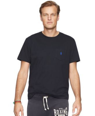 Polo Ralph Lauren Men's Big and Tall Jersey Pocket Crew Neck