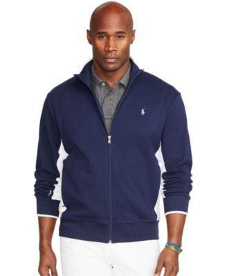 Polo Ralph Lauren Men's Big and Tall Full-Zip Interlock Track Jacket