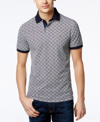 Tommy Hilfiger Big & Tall Men's Geo-Print Polo
