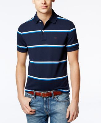 Tommy Hilfiger Big and Tall Men's Andrew Stripe Polo