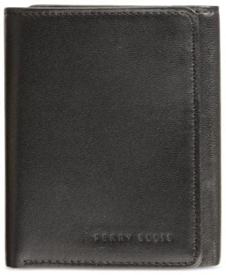 Perry Ellis Men's Leather Gramercy Slim Trifold Wallet