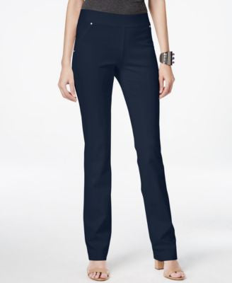 INC International Concepts Curvy Pull-On Straight-Leg Pants, Only at Vogily