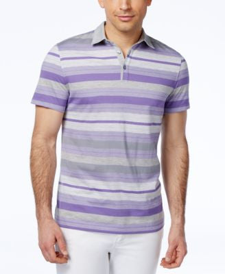 Alfani Men's Short-Sleeve Striped Polo, Only at Vogily