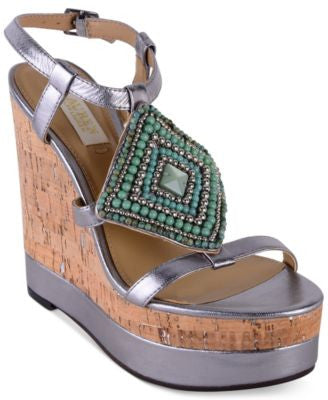 Lauren Ralph Lauren Mattie Embellished Wedge Sandals
