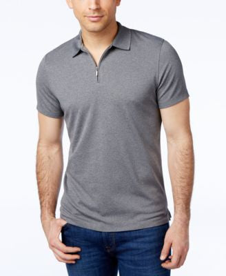 Alfani Slim Ottoman Quarter-Zip Polo