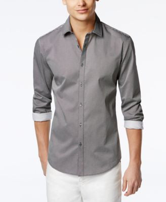 Alfani Hillsboro Geo-Print Slim-Fit Shirt, Only at Vogily