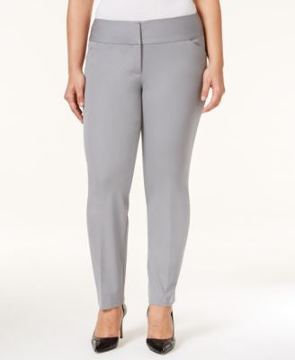 Alfani Plus Size Wide-Waistband Tapered-Leg Pants, Only at Vogily