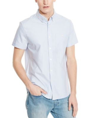 Kenneth Cole Reaction Men's Wilfred Oxford Short-Sleeve Shirt