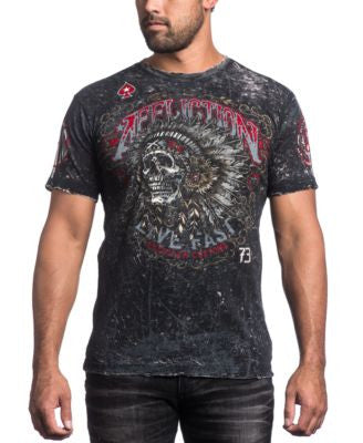Affliction Men's AC Iroquois Reversible Graphic-Print T-Shirt