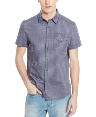 Kenneth Cole Reaction Men's Abington Striped Short-Sleeve Shirt