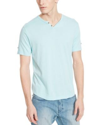 Kenneth Cole Reaction Men's Striped Short-Sleeve Henley
