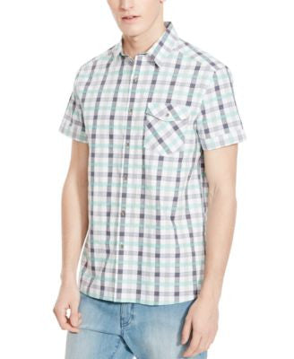 Kenneth Cole Reaction Men's Gregory Plaid Short-Sleeve Shirt