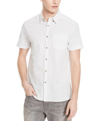 Kenneth Cole Reaction Men's Anchor Print Short-Sleeve Shirt