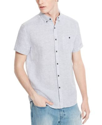 Kenneth Cole Reaction Men's Striped Linen Short-Sleeve Shirt