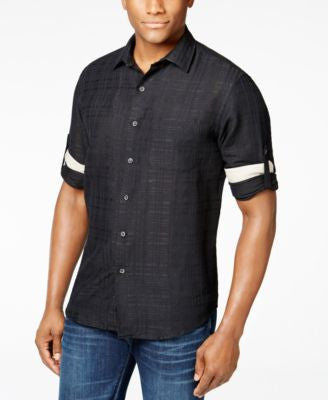 Tasso Elba Men's Textured Linen Shirt
