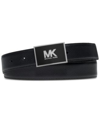 MICHAEL Michael Kors Men's Enamel Plaque Belt