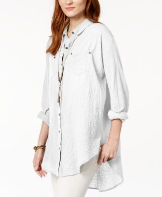 Free People Puckered Love Her Madly Oversized Shirt