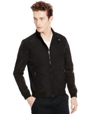 Kenneth Cole New York Men's Reversible Mesh Bomber Jacket