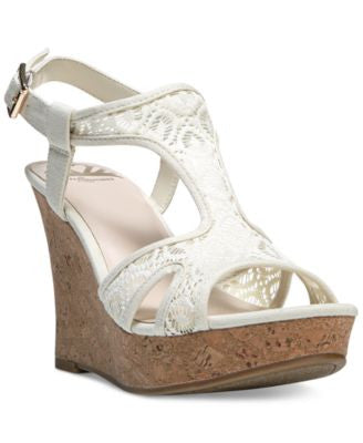 Fergalicious Kailyn T-Strap Platform Wedge Sandals