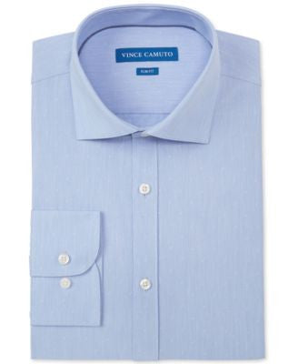 Vince Camuto Slim-Fit Blue Dobby Dress Shirt