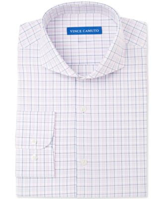 Vince Camuto Slim-Fit Rose and White Check Dress Shirt