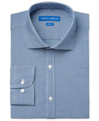 Vince Camuto Slim-Fit Teal Dobby Dress Shirt