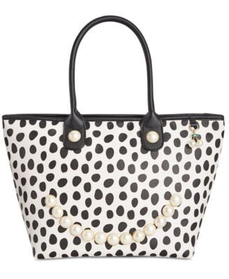 Betsey Johnson Smiley Pearl Tote