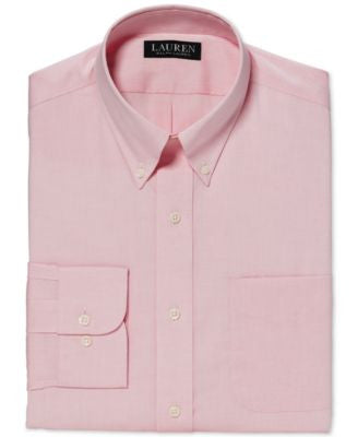 Lauren Ralph Lauren Classic-Fit Non-Iron Solid Pink Dress Shirt