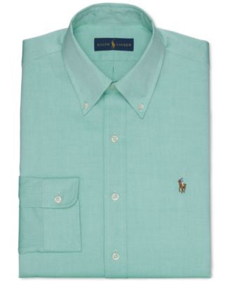 Polo Ralph Lauren Green Solid Dress Shirt
