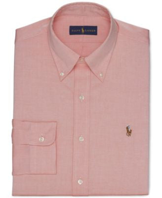 Polo Ralph Lauren Orange Solid Dress Shirt