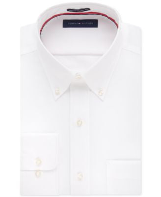 Tommy Hilfiger Classic-Fit Non-Iron Solid Dress Shirt