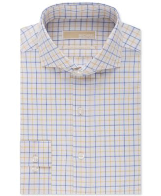 MICHAEL Michael Kors Slim-Fit Non-Iron Tattersal Dress Shirt